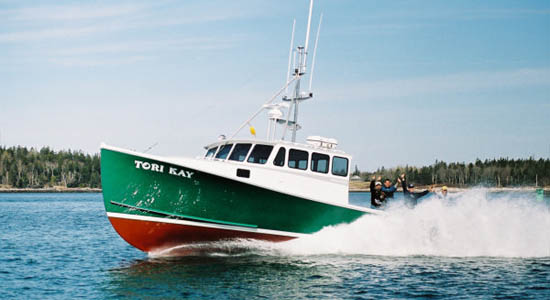 Lowell 43 commercial fishing boat Tori Kay