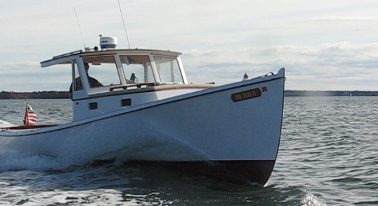 35' Osprey -  wooden boat based on Will Frost design