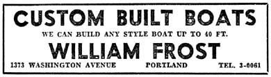 Frost newspaper ad 1951