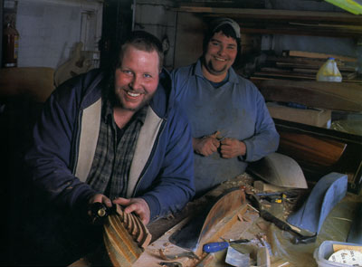 Jamie and Joe Lowell, 6th generation Maine boat builders